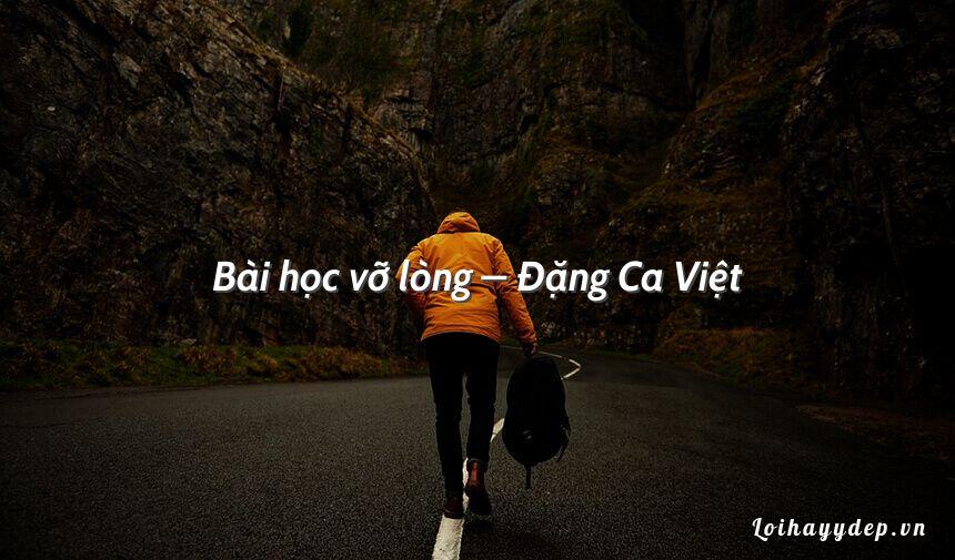 Bài học vỡ lòng – Đặng Ca Việt