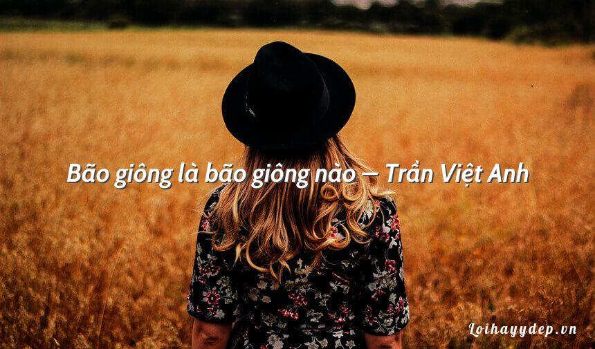 Bão giông là bão giông nào – Trần Việt Anh