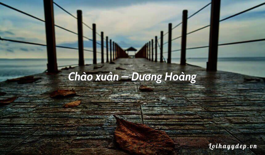 Chào xuân – Dương Hoàng