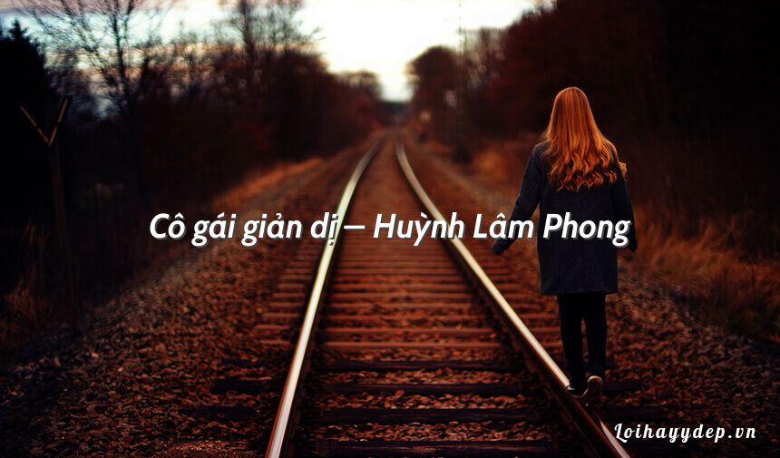 Cô gái giản dị – Huỳnh Lâm Phong