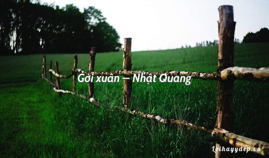 Gởi xuân – Nhật Quang