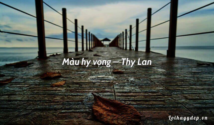 Màu hy vọng – Thy Lan