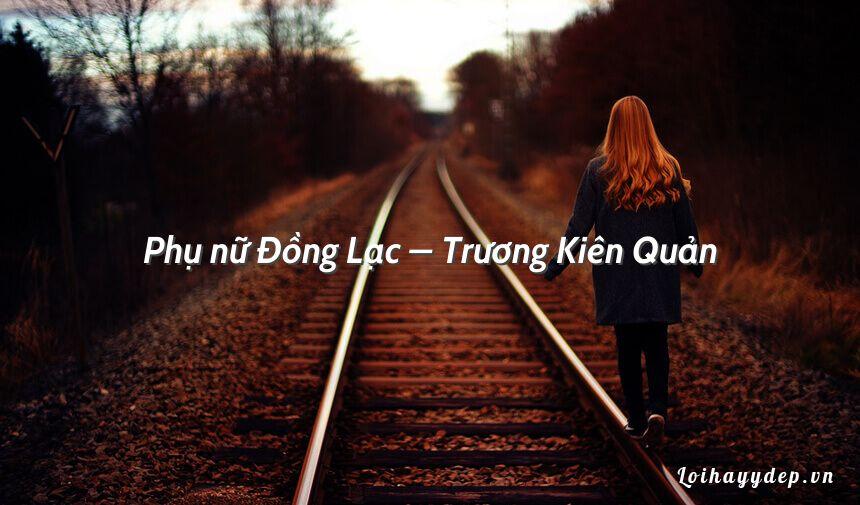 Phụ nữ Đồng Lạc – Trương Kiên Quản