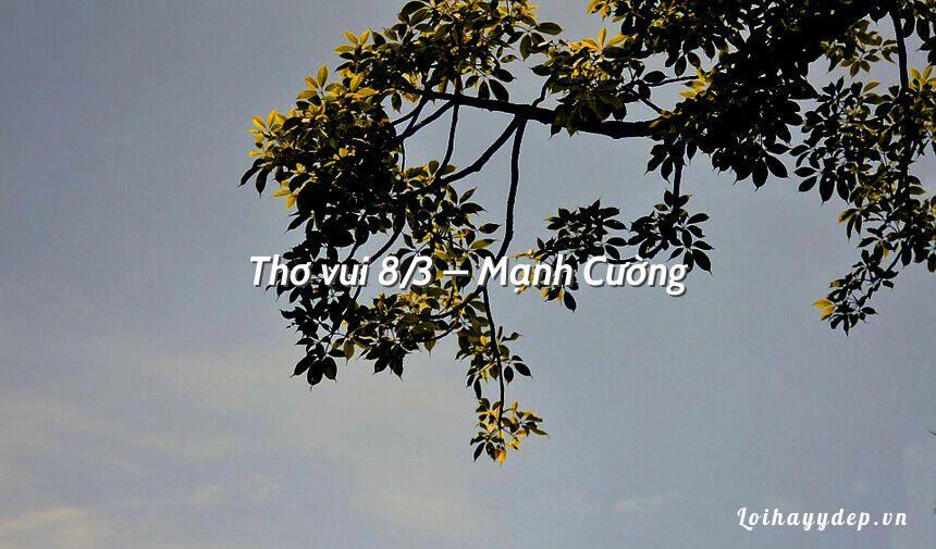Thơ vui 8/3 – Mạnh Cường