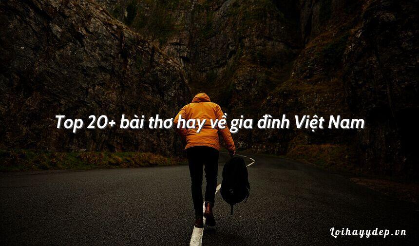Top 20+ bài thơ hay về gia đình Việt Nam