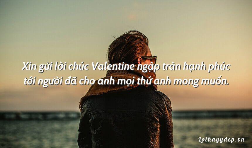 Xin gửi lời chúc Valentine ngập tràn hạnh phúc tới người đã cho anh mọi thứ anh mong muốn.